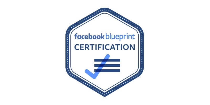 Facebook blueprint certification badge.