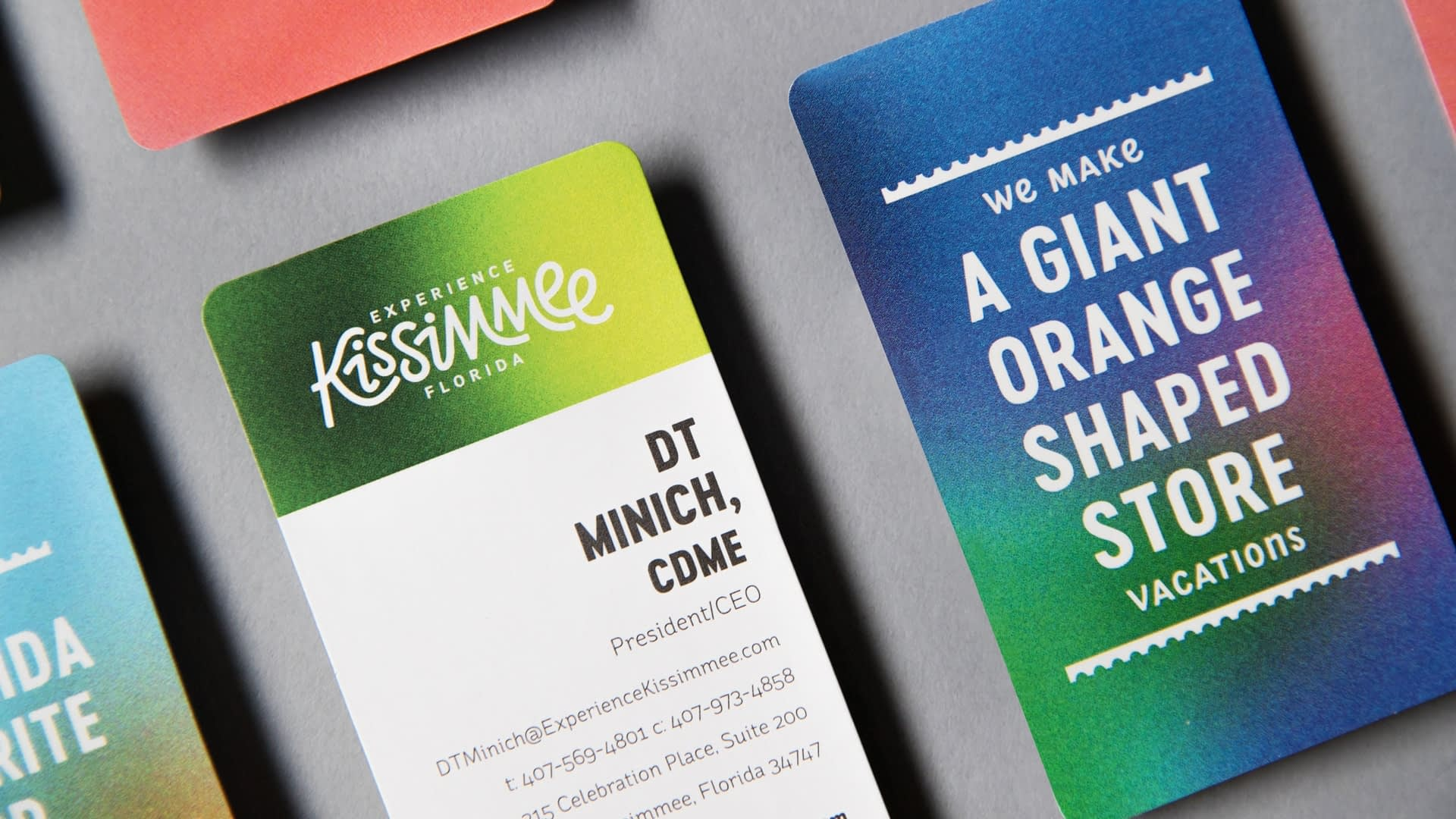Experience Kissimmee Destination marketing and rebrand - business cards
