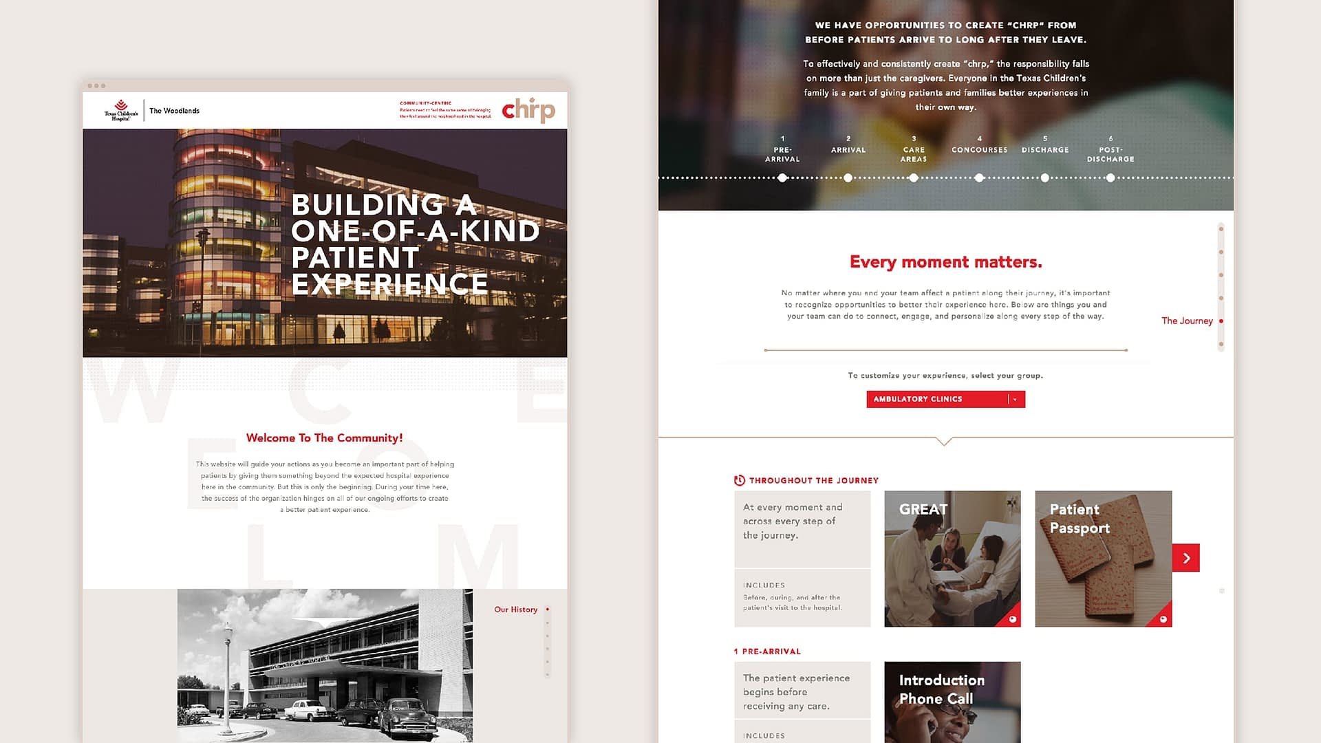Texas children's website. Part of an internal hospital branding effort for Texas Children's hospital.