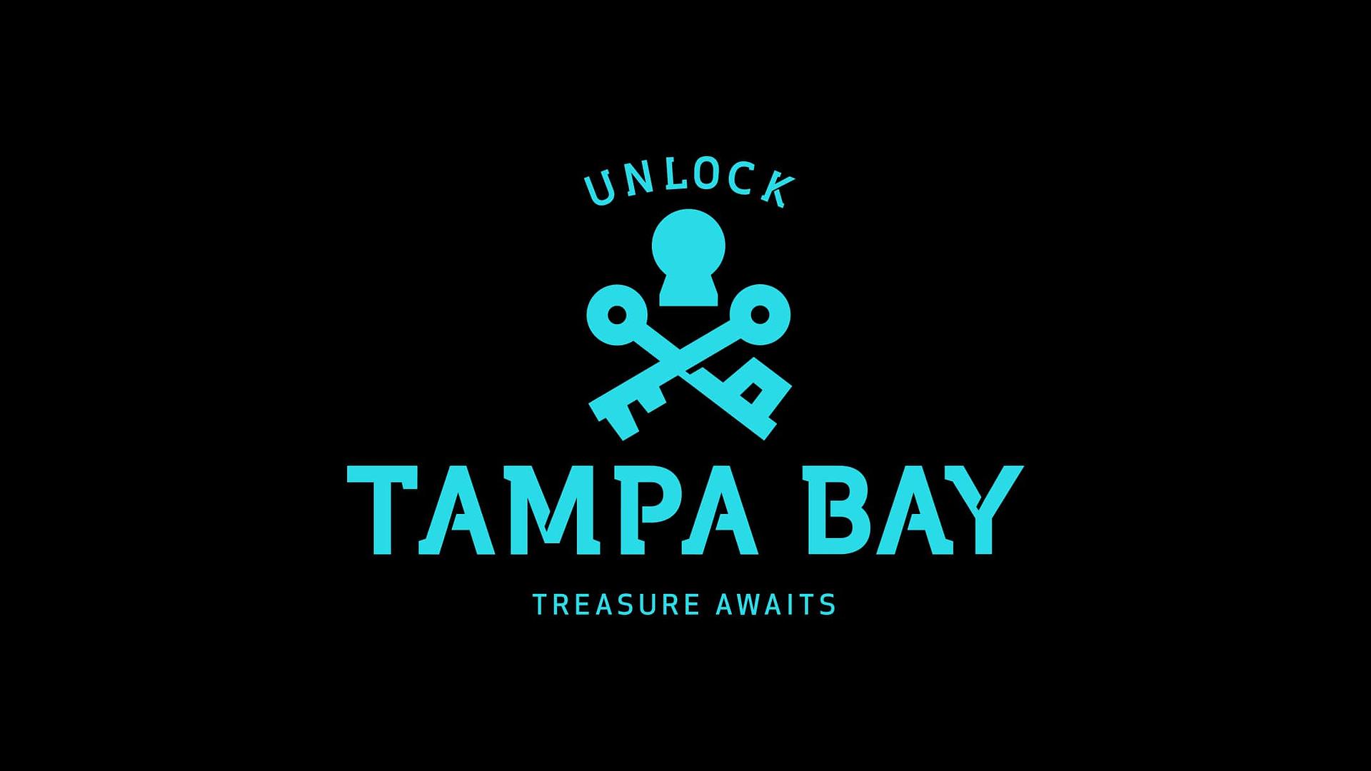 Tampa bay logo, blue on black