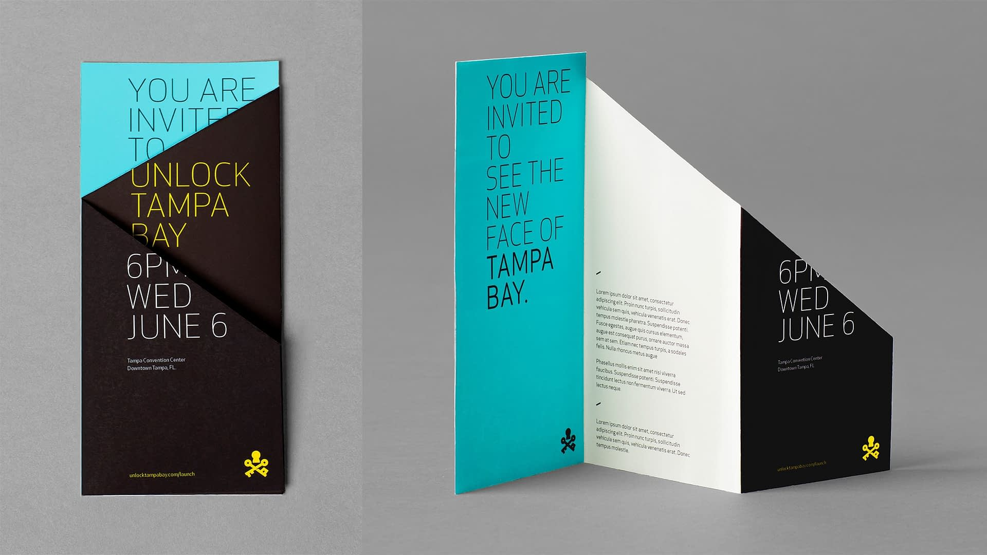 Visit Tampa Bay branded launch invitation - a portion of our destination marketing efforts