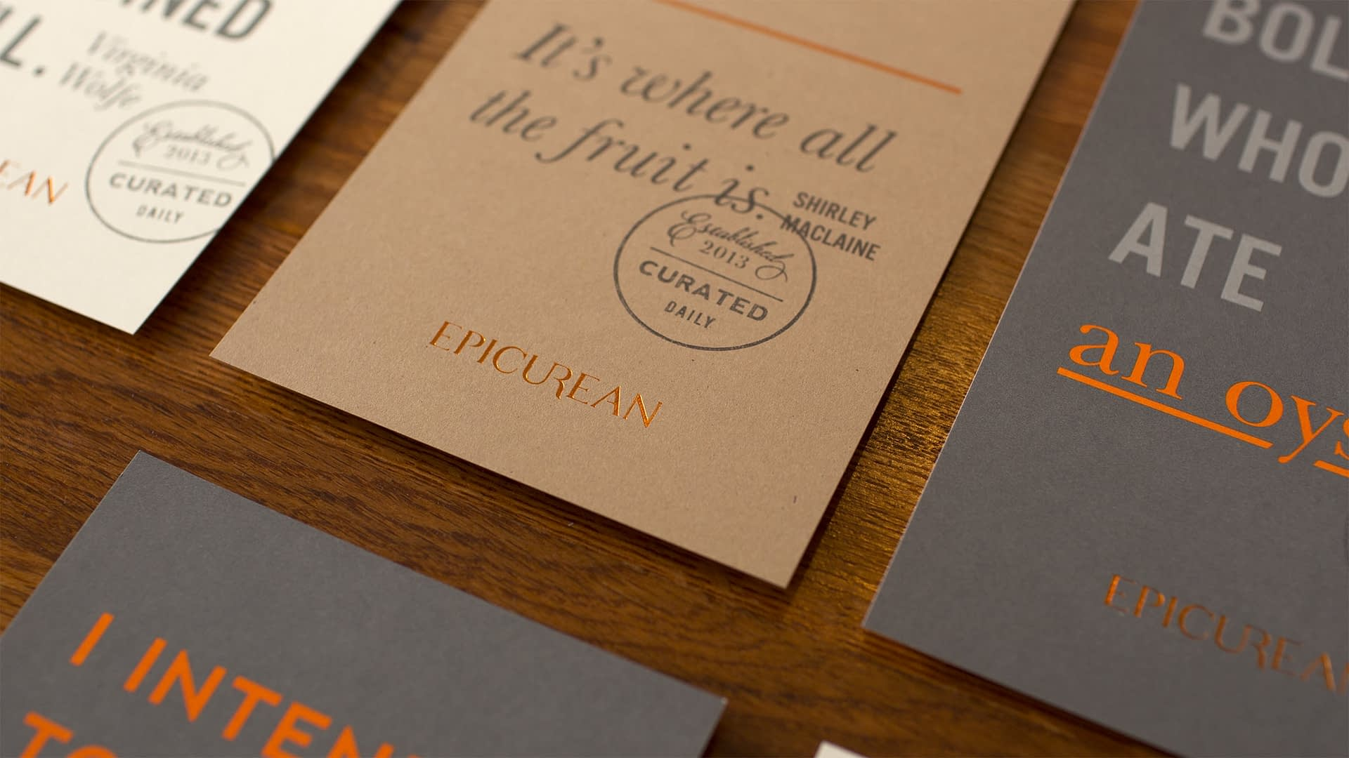 Epicurean Hotel branded collateral
