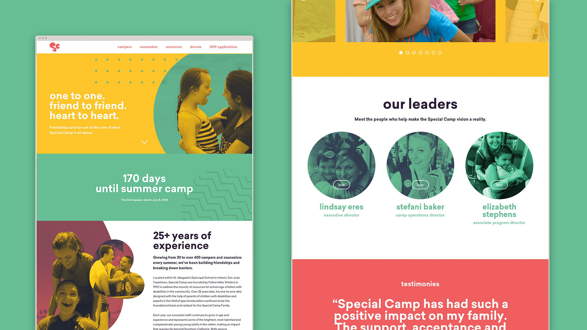 Snippet of the special d —from our nonprofit rebrand initiative, STOKED.