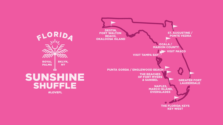 Sunshine Shuffle Destination Map