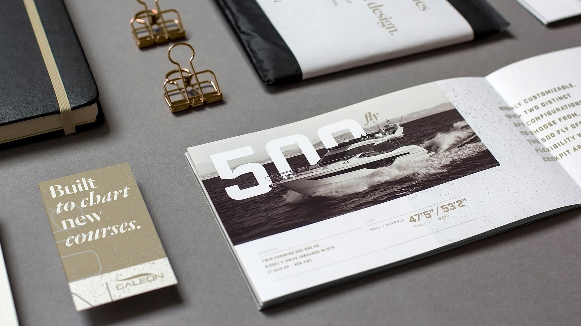 Galeon Yachts brochure created for their break the mold boat campaign.