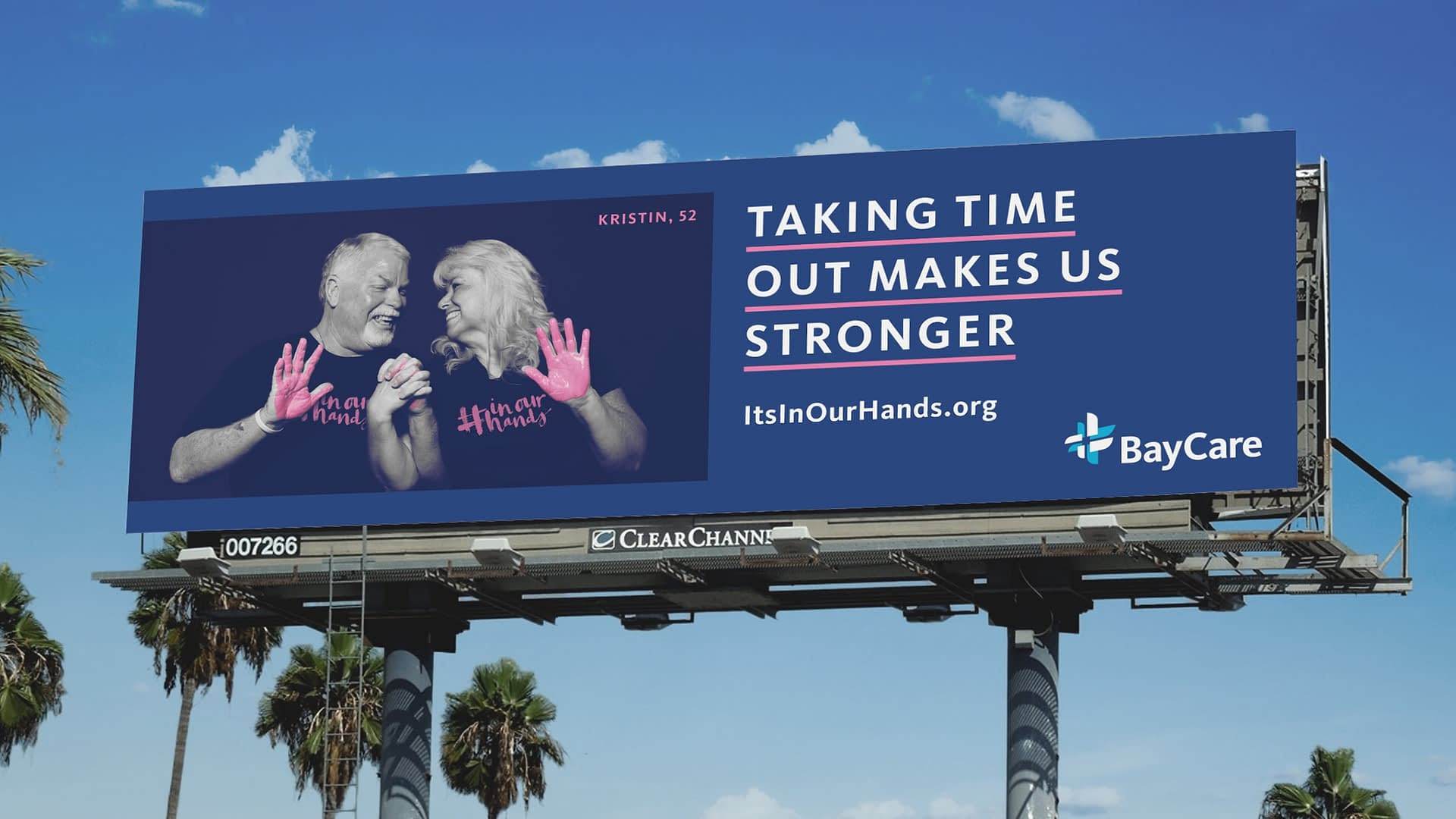 In Our Hands campaign billboard.