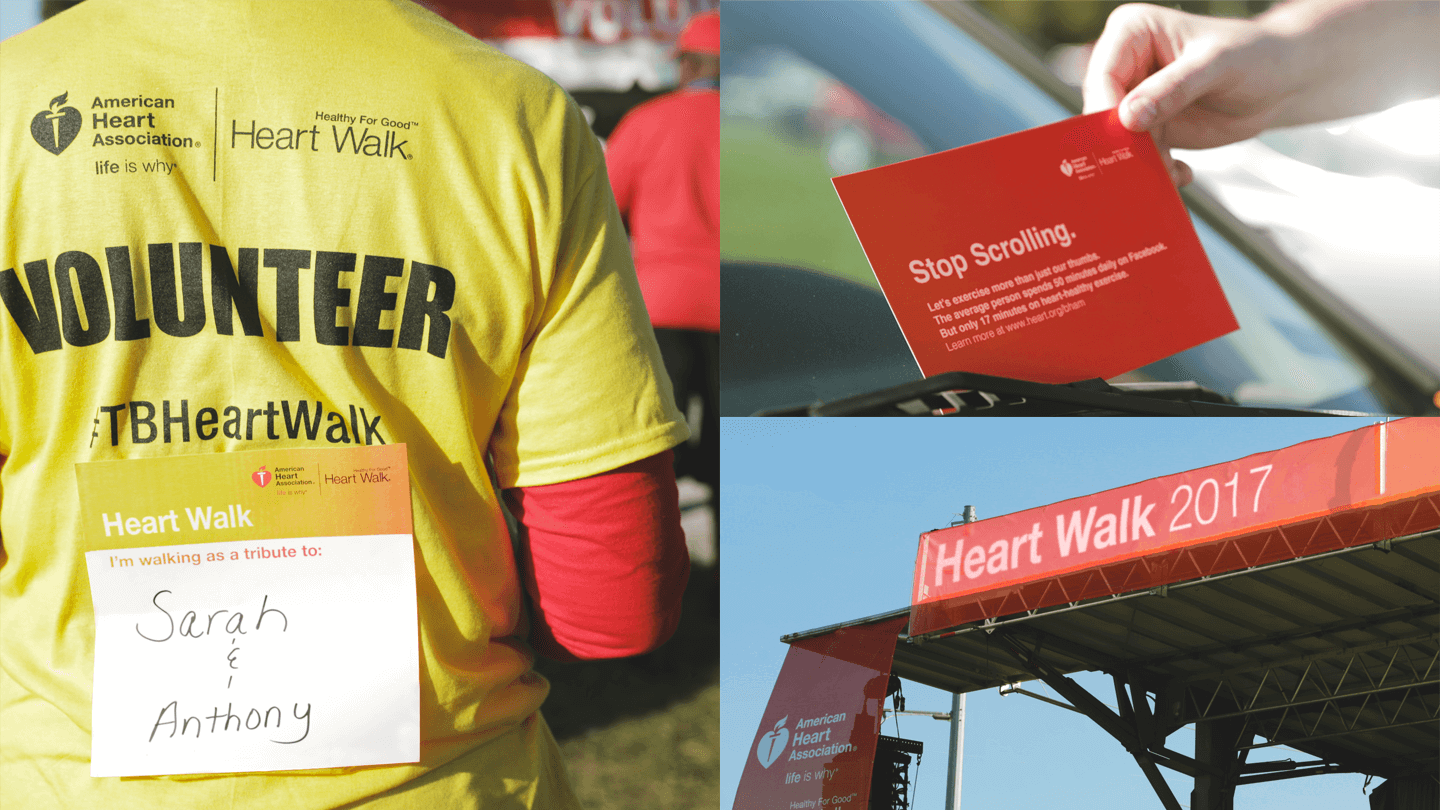 American Heart Associations Rebranded Heart Walk Experience Design - event collateral