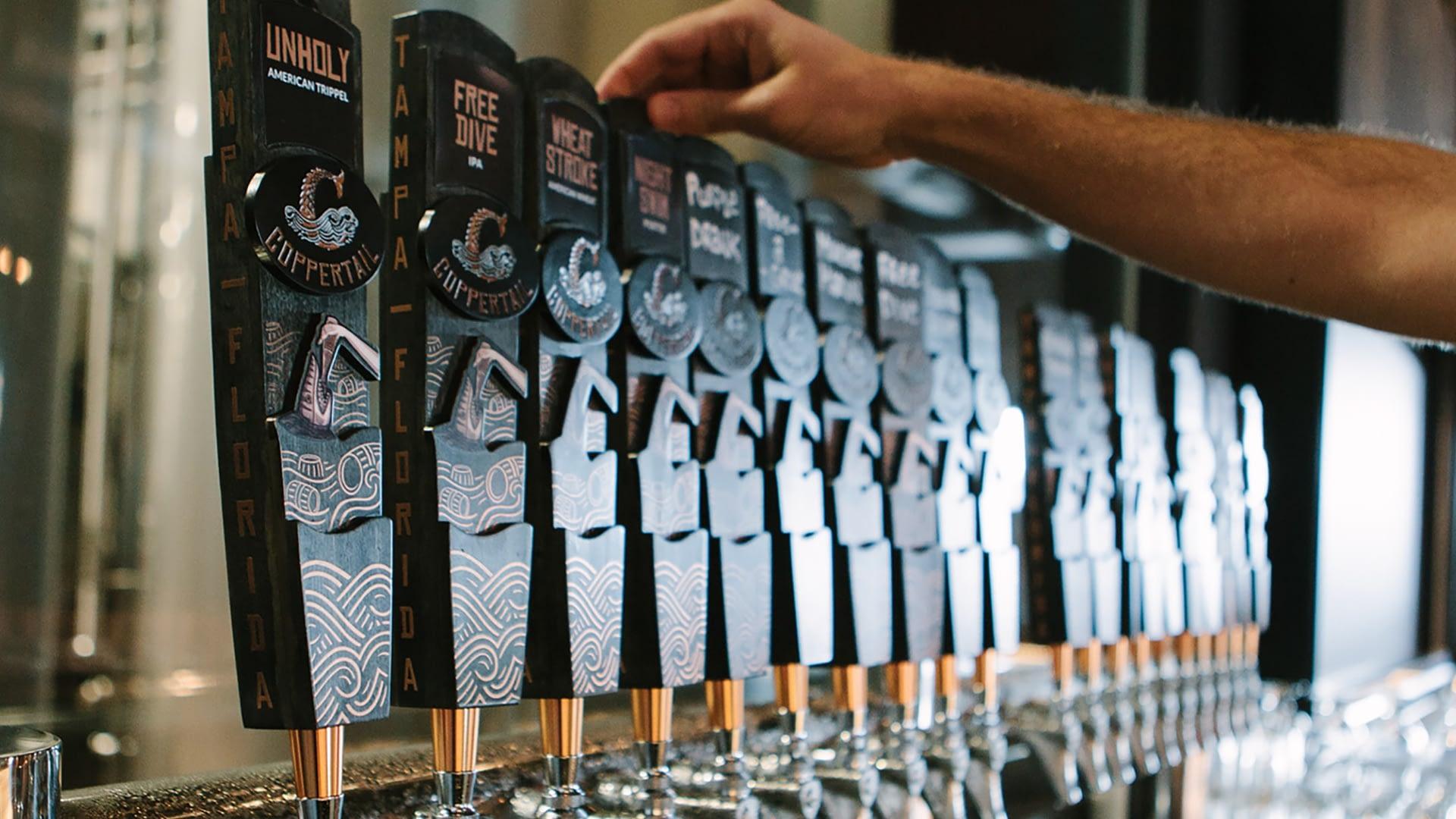 Coppertail beer tap handles