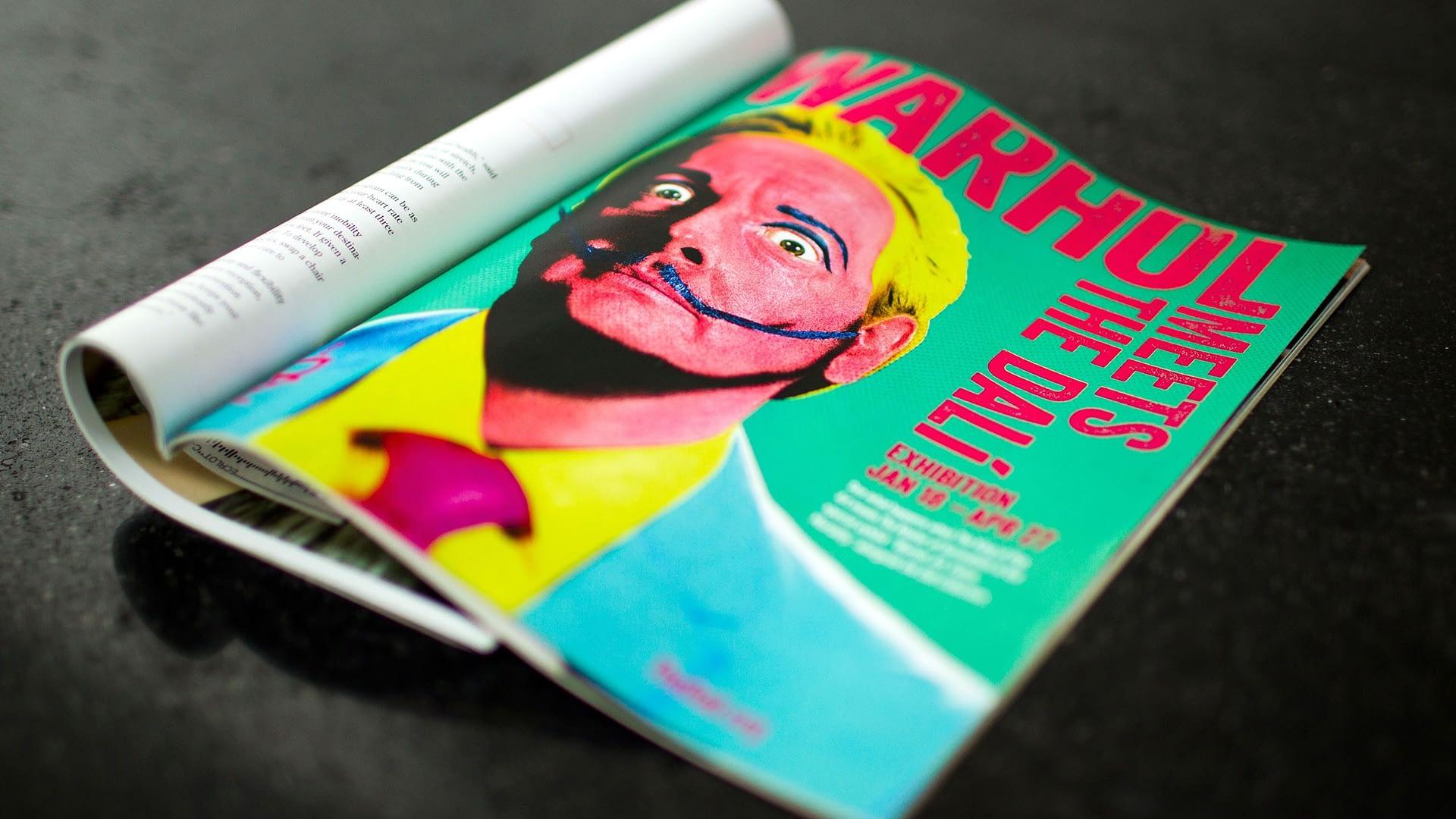 Dali ad in print magazing