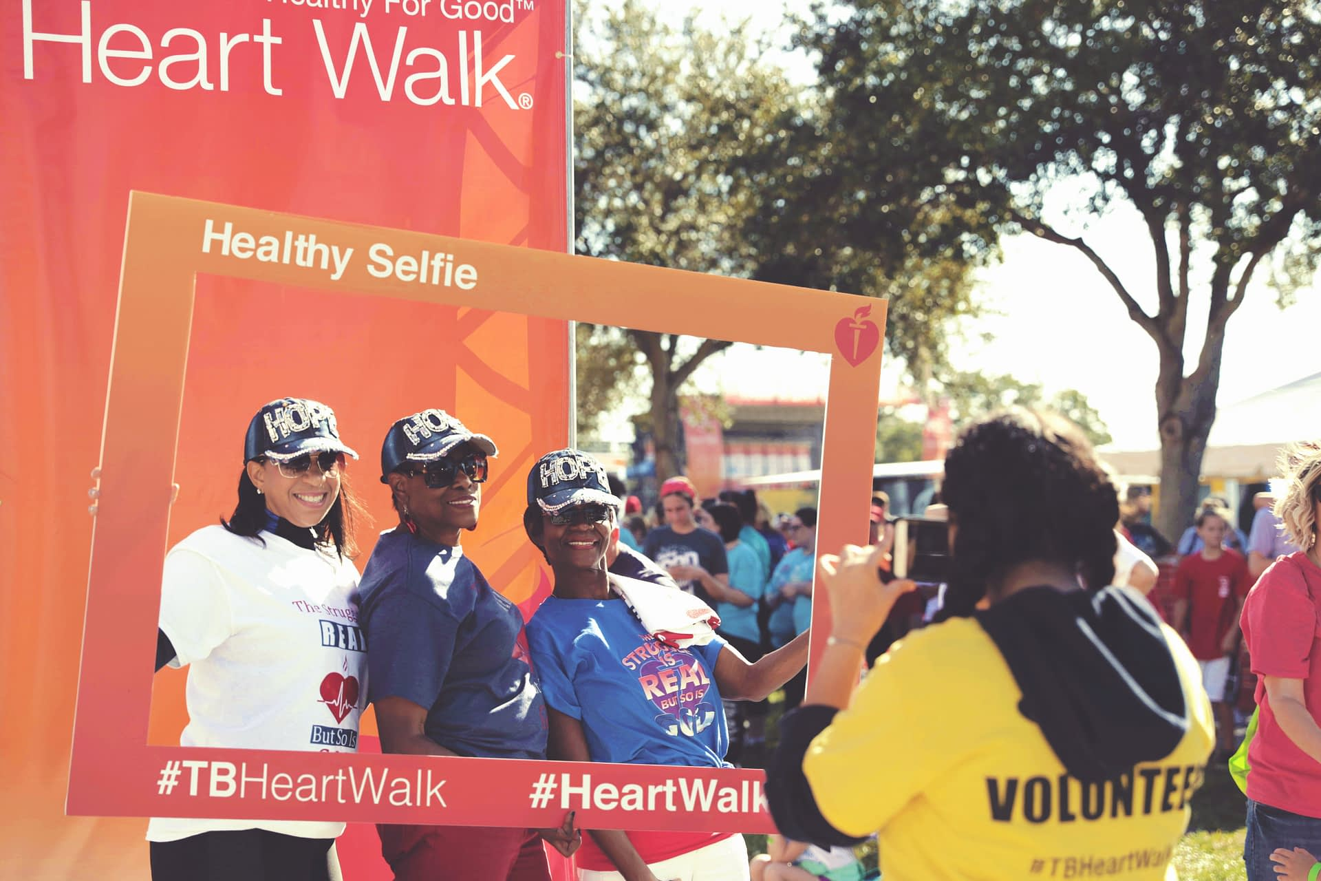 American Heart Associations Rebranded Heart Walk Experience Design - event photo booth