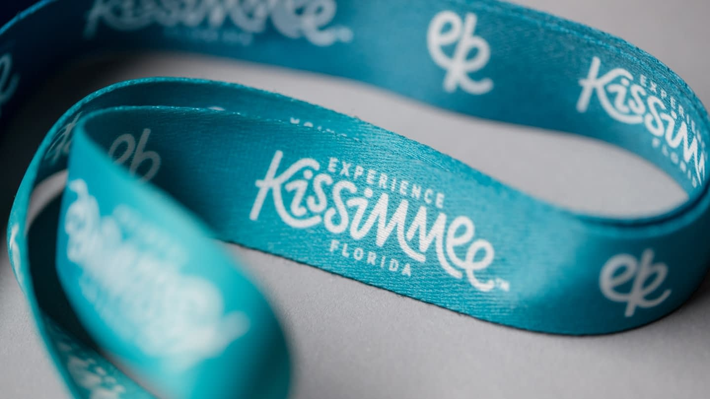 Experience Kissimmee Destination marketing and rebrand - lanyard