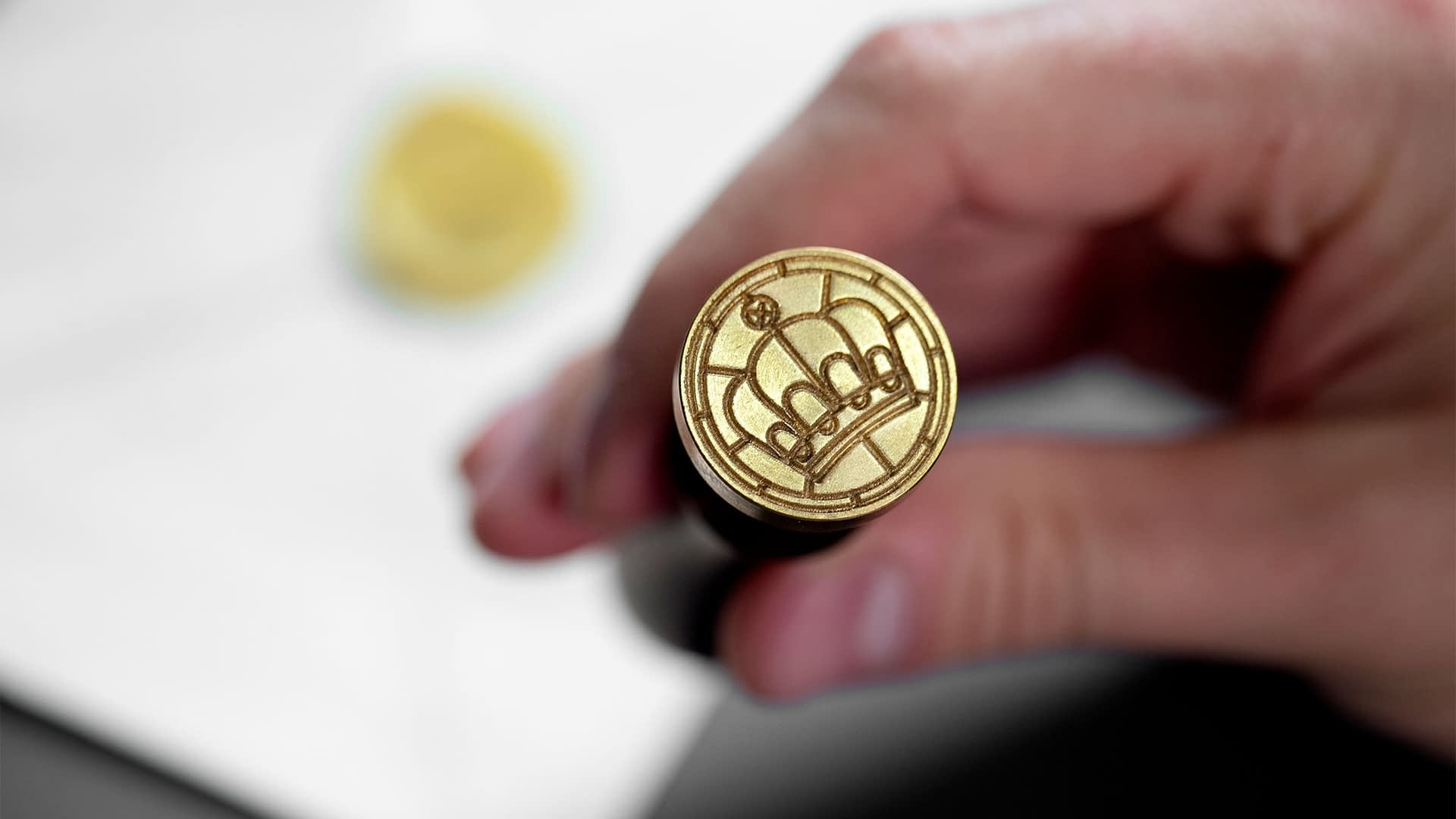 Inn At The Mission logo wax seal stamp
